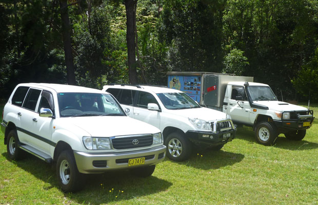 Trapp Tours 4x4 tour vehicles