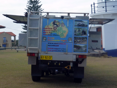 Trapp Tours 6x6 support vehicle